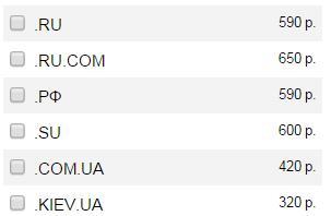 стоимость домена