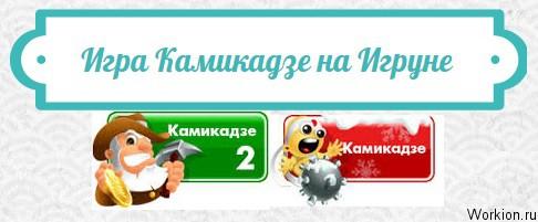 камикадзе игра