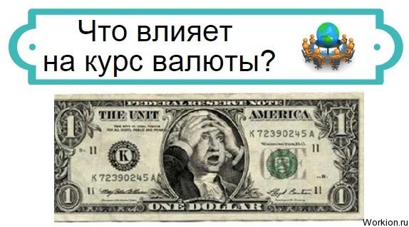 что влияет на курс валюты
