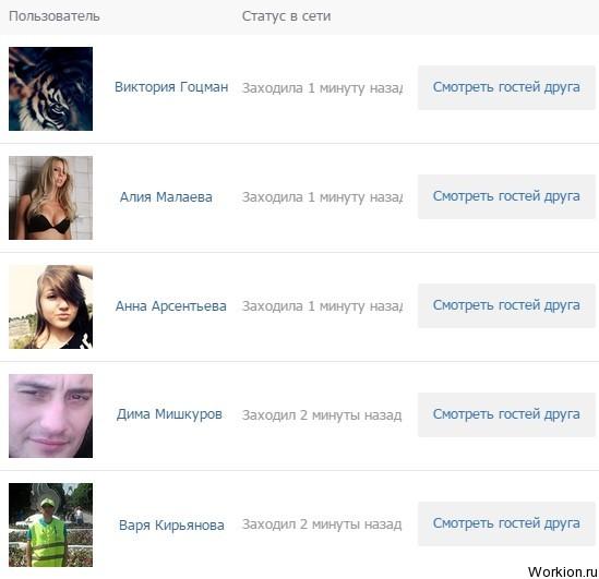 Гости моей странички вконтакте