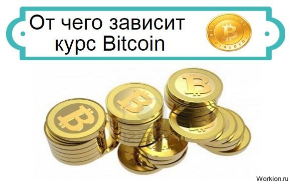 От чего зависит курс Bitcoin