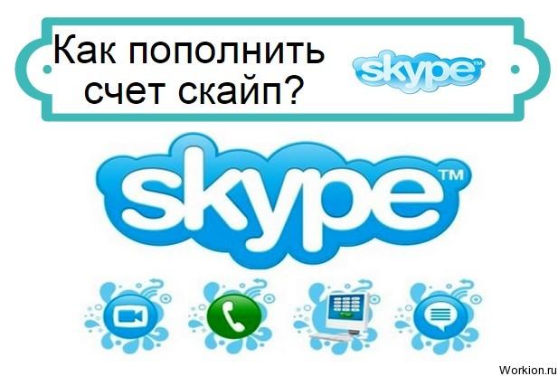 как пополнить счет скайп
