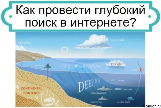 глубокий поиск в интернете