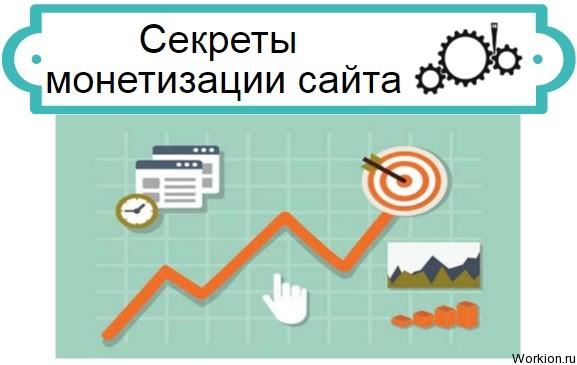 Секреты монетизации сайта