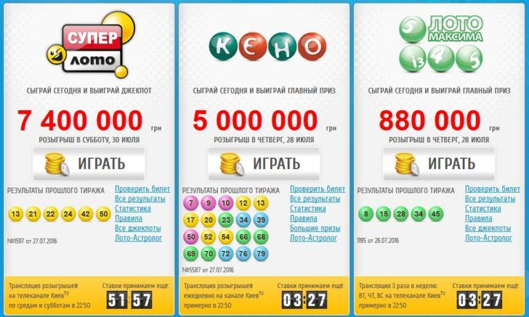 Лотерея Онлайн Украина отдавали себе