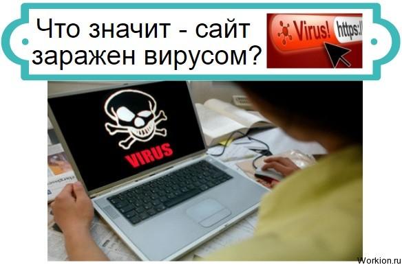сайт заражен вирусом