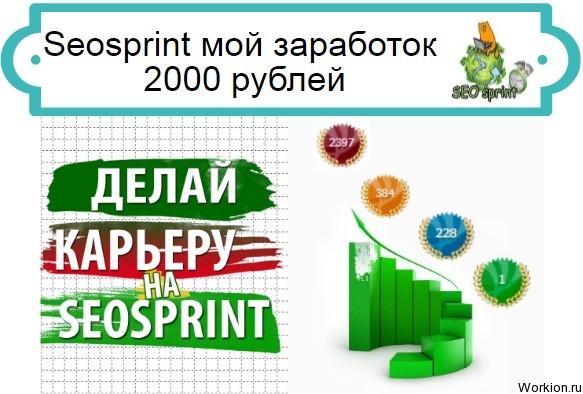 Seosprint заработок 2000 рублей