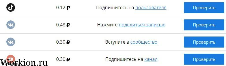 задания подписки