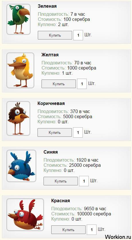птицы Golden Birds