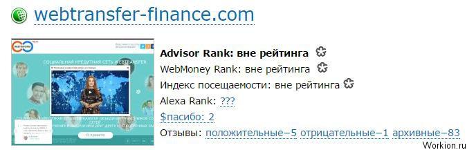Webtransfer Finance развод или нет? (проект скам)