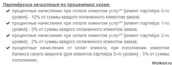 Партнерская программа Uanic.name