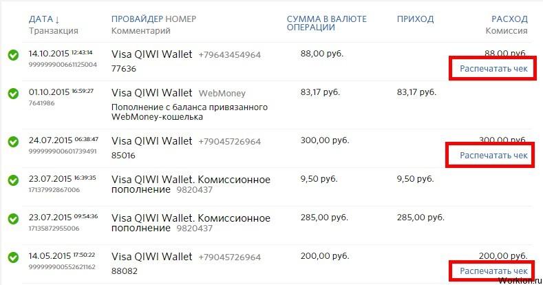 Что такое QIWI чек?