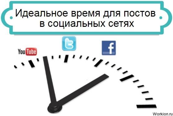 время для постов в социальных сетях
