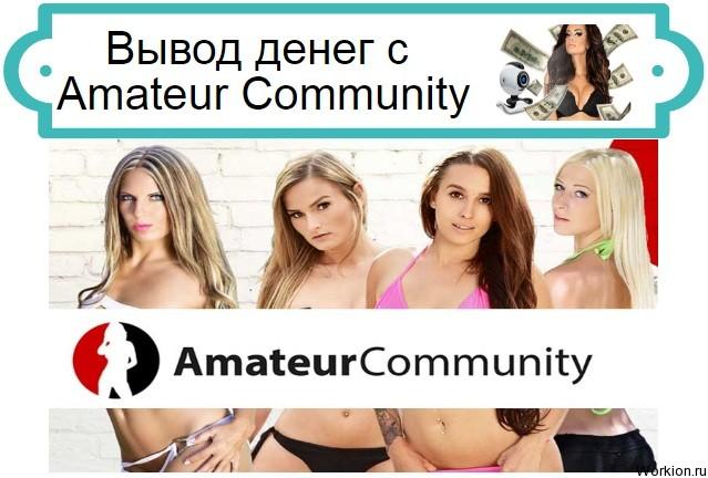 Вывод денег с AmateurCommunity