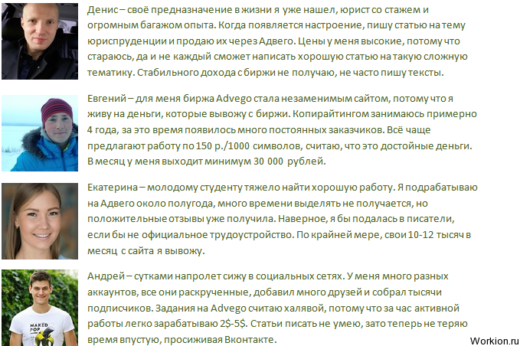 Advego - биржа статей с возможностью заработка