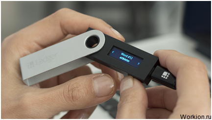 Аппаратный кошелек Ledger Nano S для холодного хранения криптовалют