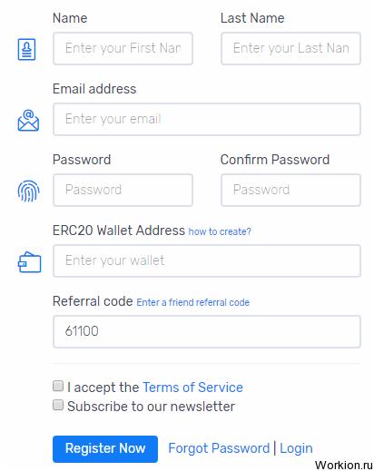 Бесплатные токены за регистрацию в Bounty ICO