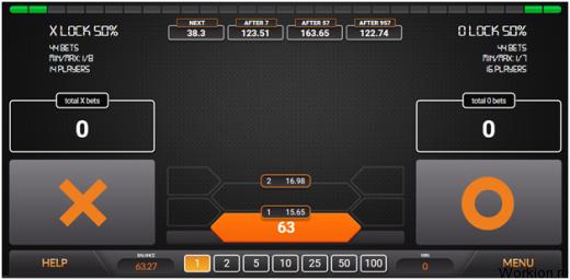 Простая азартная игра Xogame с выводом реальных денег и джекпотом