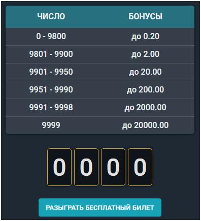 бесплатный билет