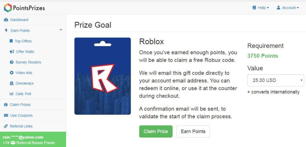 Earn Points Roblox