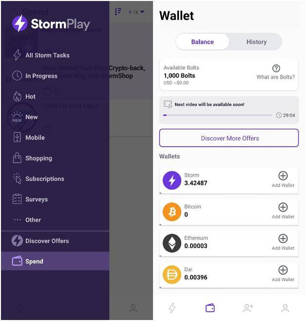 StormPlay wallet