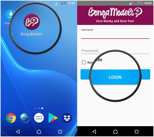 Мобильное приложение Bongamodels