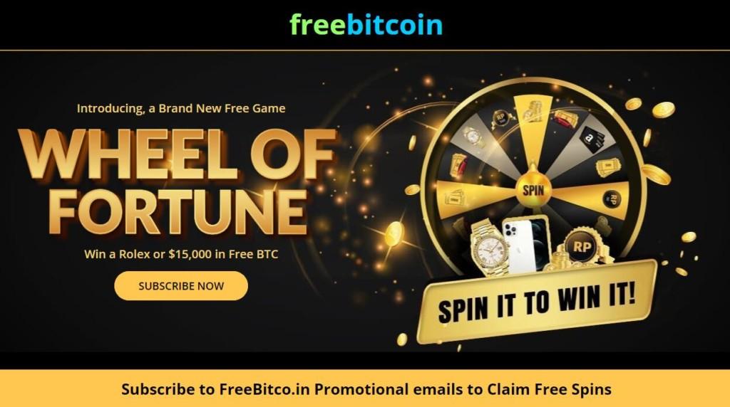 freebitcoin колесо