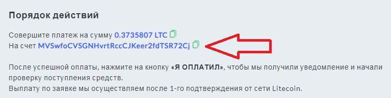 litecoin адрес кошелька