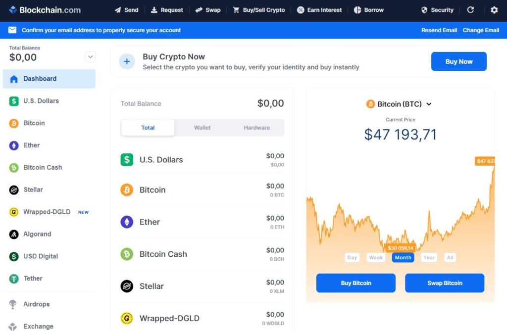 Blockchain кошелёк