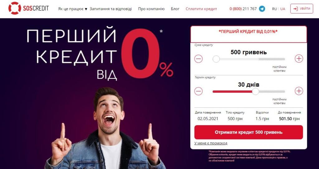 Soscredit кредит в Украине