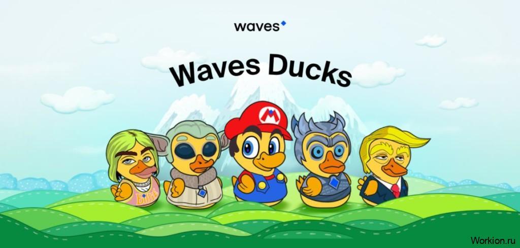 Wavesducks игра с токеном EGG