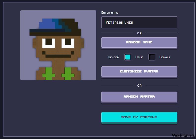 заполнить характеристики профиля в игре Rollercoin
