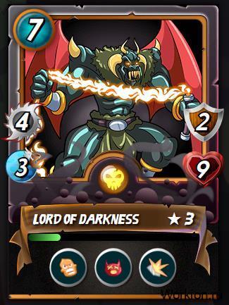 описание карточки в nft игре Splinterlands