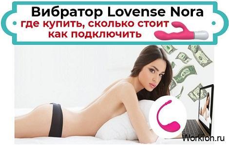 Lovense Nora: где купить и как подключить вебкам модели